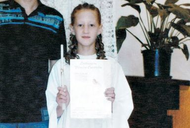 A menina Andressa Holz.