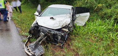 Acidente com três veículos é registrado na BR 282 em Joaçaba