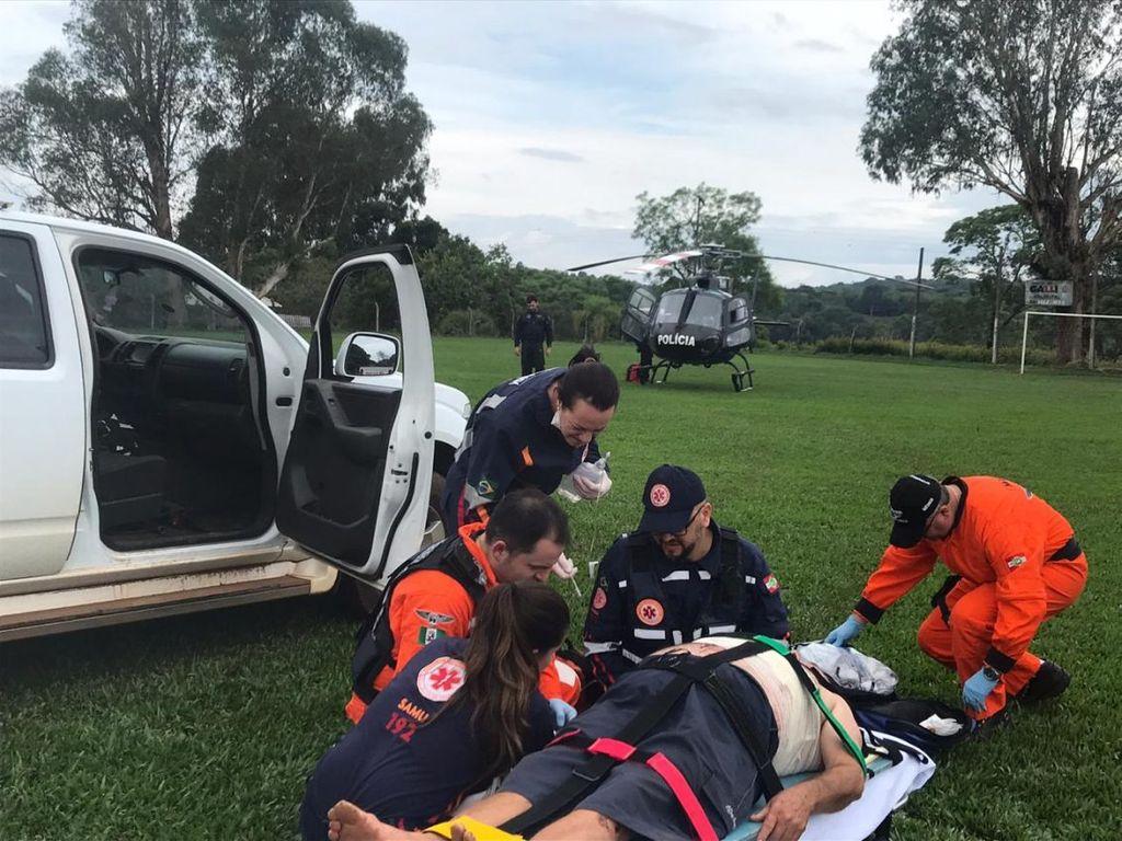 Idoso fica ferido após ser atacado por boi no interior de Chapecó