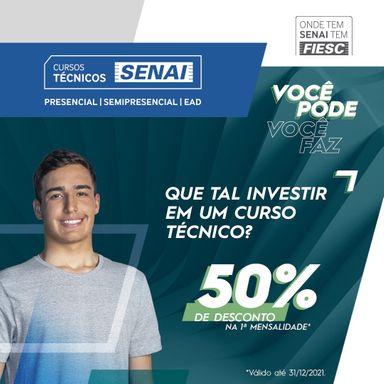 SESI SENAI está com matrículas abertas para cursos técnicos