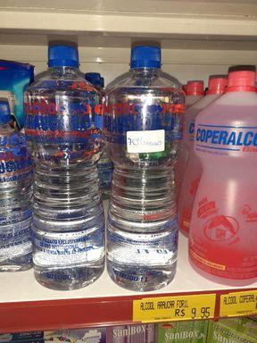 Mercado de Joaçaba é notificado por vender álcool 92,8°como se fosse álcool 70°