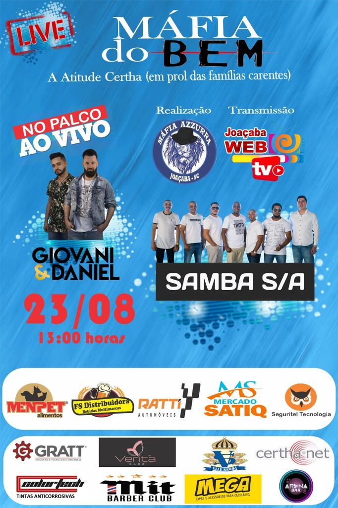 Torcida Organizada do Joaçaba Futsal promove live beneficente