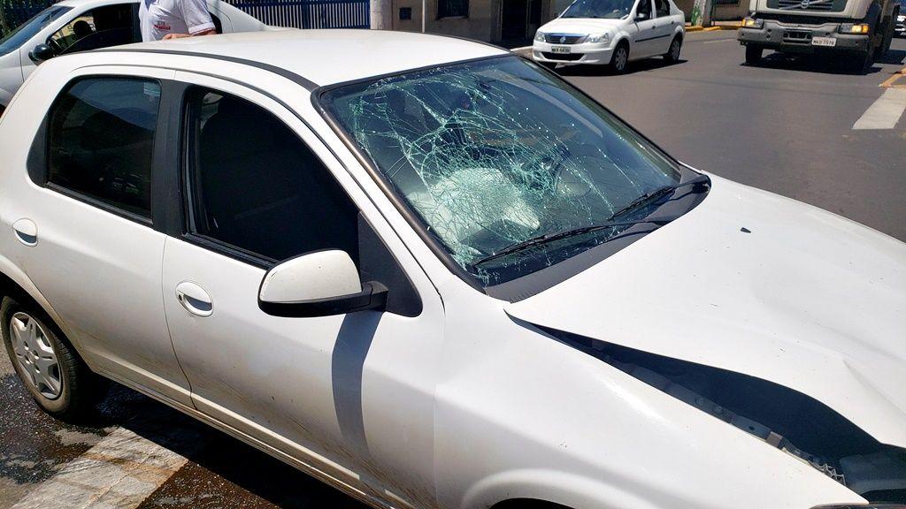 Acidente envolve dois veículos e complica trânsito em Joaçaba