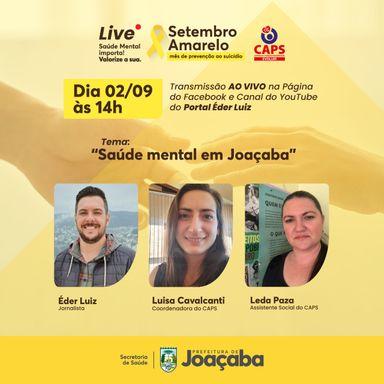 Live! Saúde mental em Joaçaba