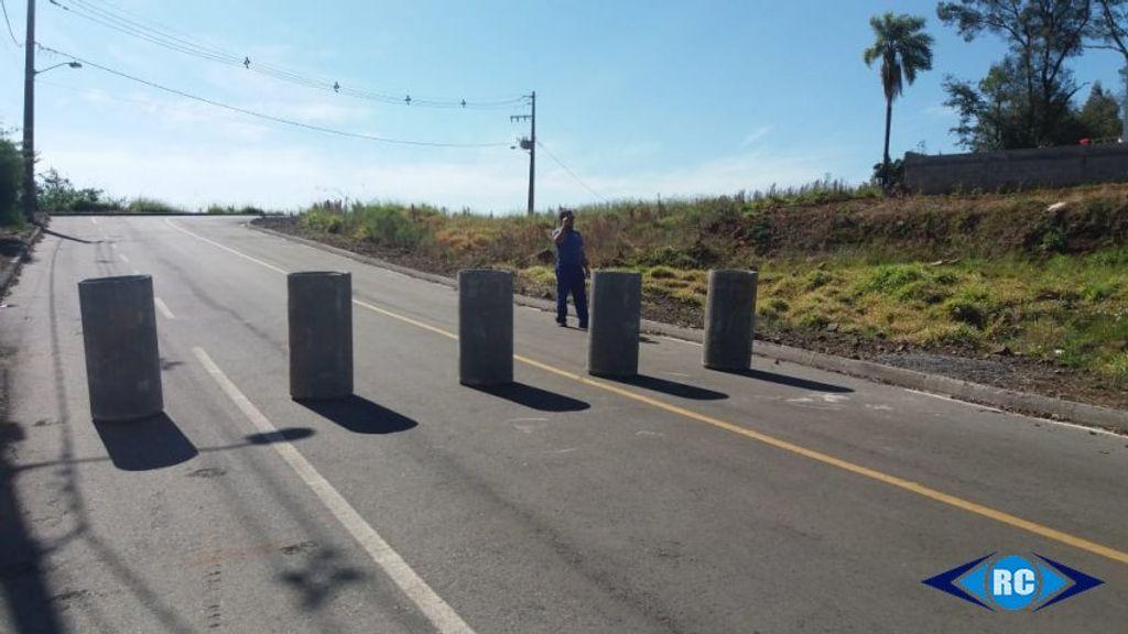 Comando da PM de Capinzal anuncia o fechamento de dois acessos para evitar aglomerações