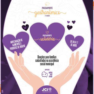 JCI com o apoio do Aiqfome, lançam a campanha PASSAPORTE SOLIDÁRIO