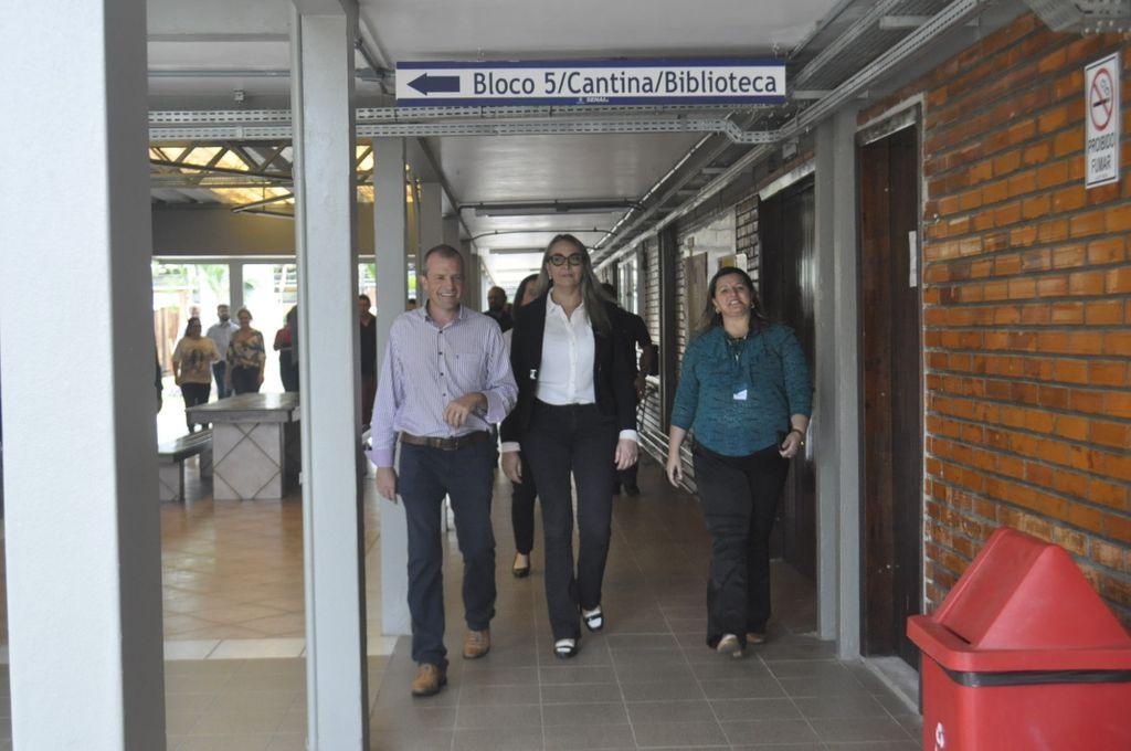 Prefeito de Luzerna acompanhou a vice-governadora na visita