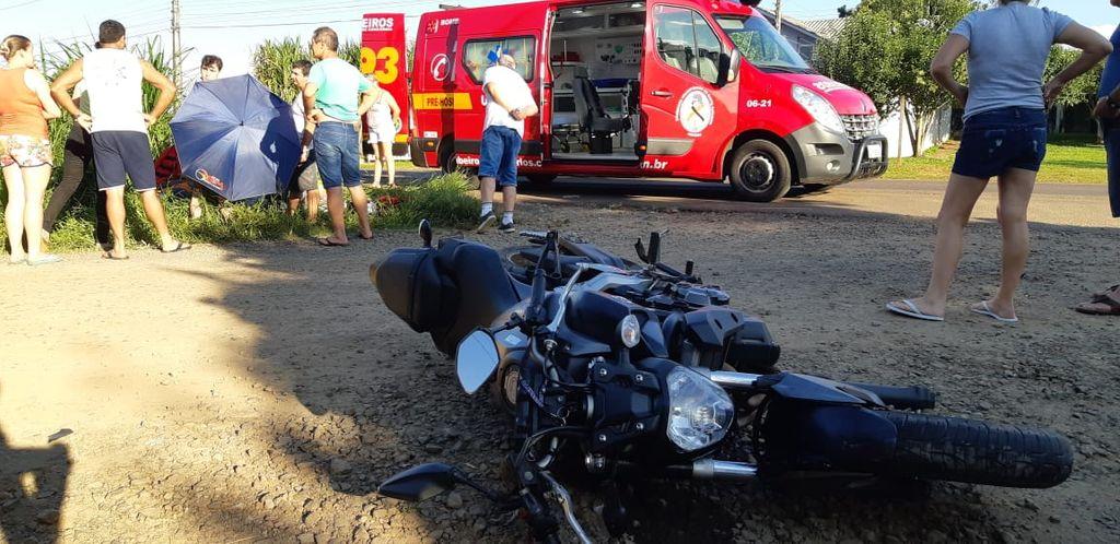 Motociclista fica gravemente ferido em acidente em Concórdia