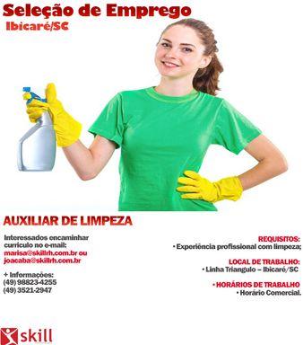 AUXILIAR DE LIMPEZA- LINHA TRIANGULO