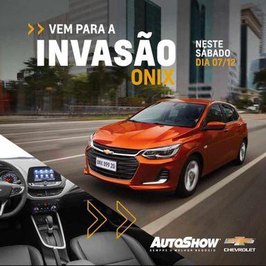 Invasão Onix - Autoshow promove ação de lançamento do novo Onix Hatch no Feirão Love Motors