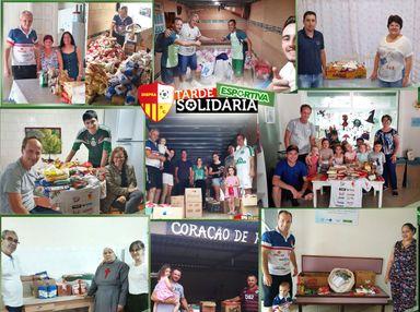Tarde Solidária Esportiva arrecadou cerca de 900 kg de alimentos