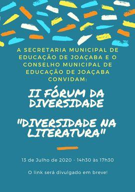 Secretaria Municipal de Educação de Joaçaba e Conselho Municipal de Educação promovem II Fórum da Diversidade