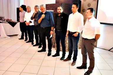 Diretores da Transpocred estiveram em Joaçaba para a inauguração