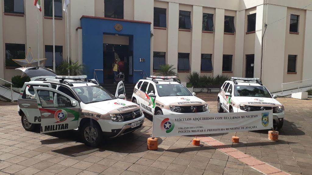PM recebe três novas viaturas através de convênio com a prefeitura de Joaçaba