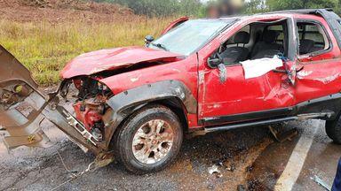 Com diferença de 15 minutos, dois acidentes são registrados quase no mesmo local na BR 282, em Joaçaba