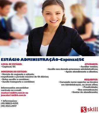 ESTÁGIO ADMINISTRAÇÃO- CAPINZAL/SC