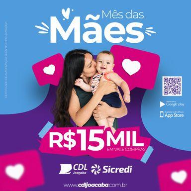CDL/Joaçaba vai sortear R$ 15 mil em vale-compras na promoção do Dia das Mães