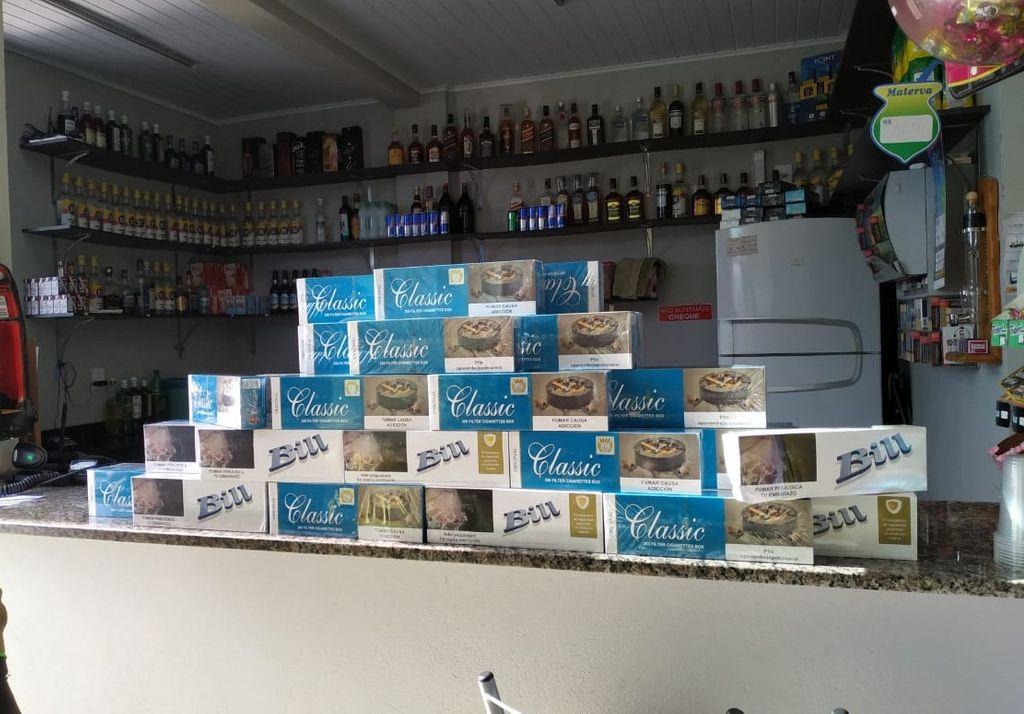 Cigarros contrabandeados são apreendidos em Joaçaba e Herval d' Oeste