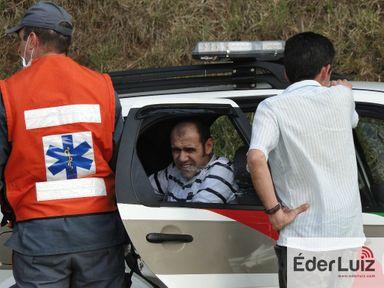 O autor no dia do acidente. (Fotos: Arquivo Portal Éder Luiz)