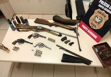 Polícia Civil faz prisões e apreende armas em Ponte Serrada