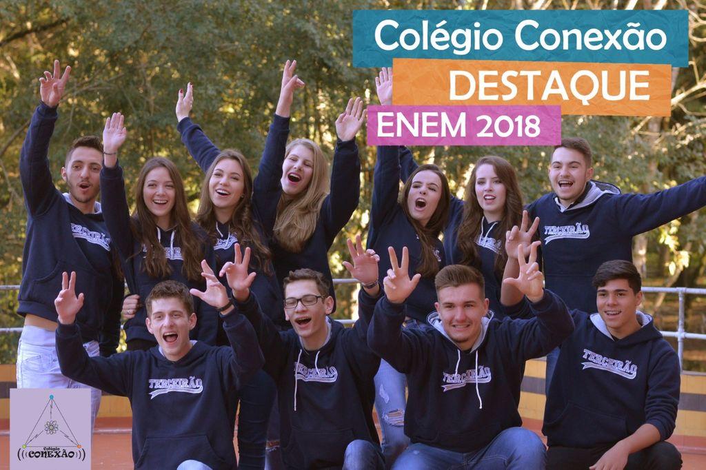 Colégio Conexão comemora excelente resultado no ENEM 2018