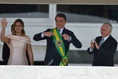 Bolsonaro recebeu a faixa de Michel Temer - Marcelo Camargo/Agência Brasil