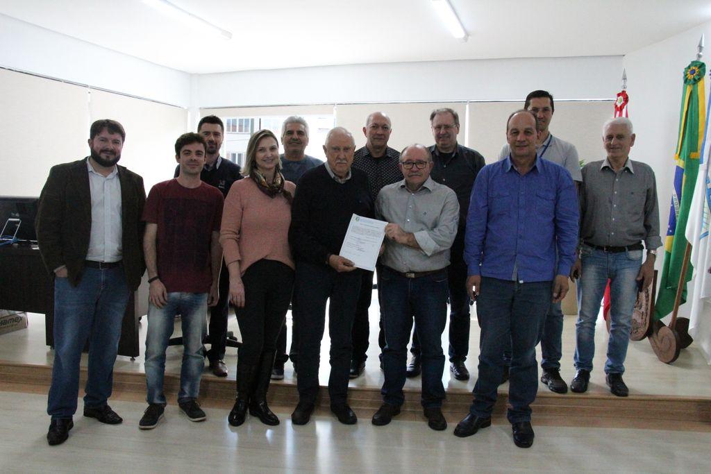 Assinatura da Ordem de Serviço aconteceu na Prefeitura de Joaçaba, na quinta-feira, 8.