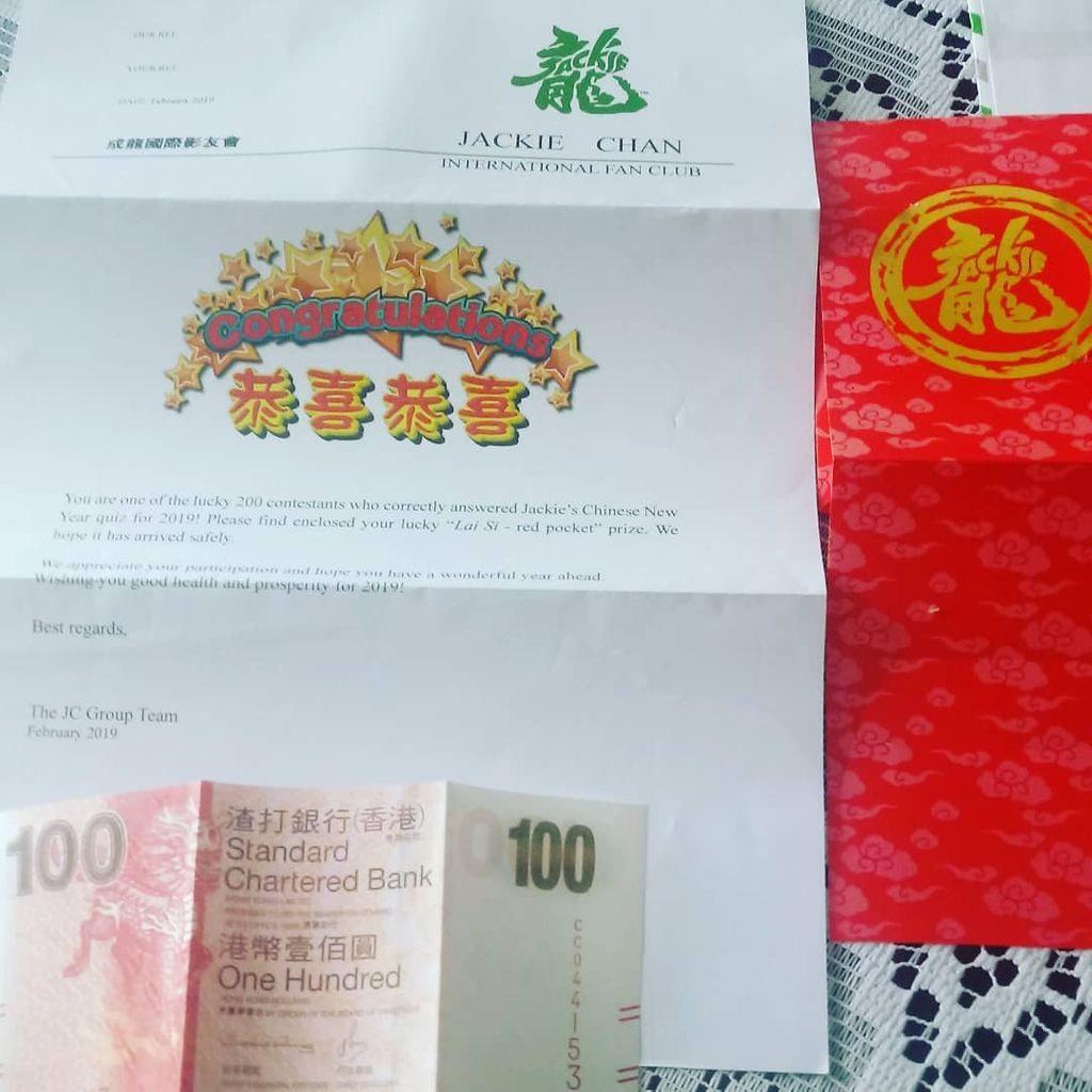 A carta e o prêmio recebido pela participação.