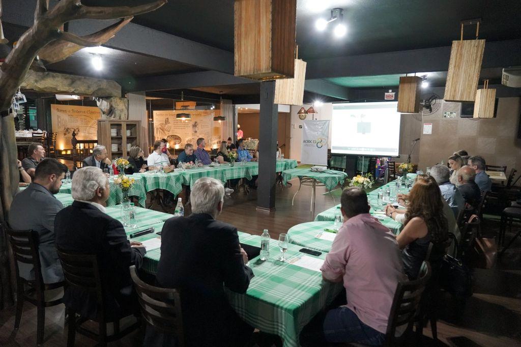 ACIOC sedia plenária da Facisc e regional Meio-Oeste discute as demandas para 2021