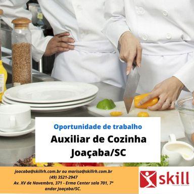 Auxiliar de Cozinha  Joaçaba /SC