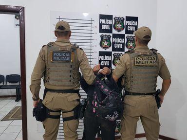 Após 12 horas de caçada PM prende assaltante em Campos Novos