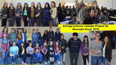 NAF da Unoesc realiza premiação do concurso de redação do Projeto de Educação Fiscal desenvolvido nas escolas públicas