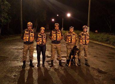 O Grupo de Operações, Resgate e Salvamento com Cães de Concórdia encontrou o rapaz