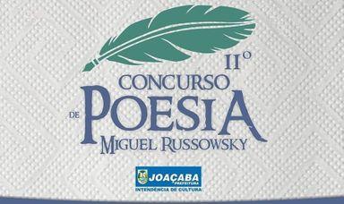 Abertas as inscrições para o II Concurso de Poesia Miguel Russowsky