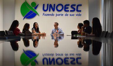Unoesc recepciona grupo de Chilenos para estada de pesquisa no Programa de Pós-Graduação em Educação