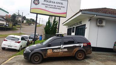 Adolescente foi apreendido e levado à delegacia de Catanduvas