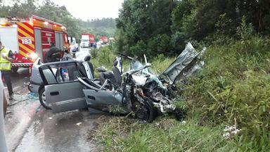 Leitor flagra tragédia em rodovia de Santa Catarina