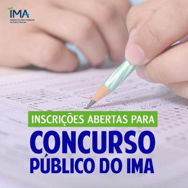 Inscrições para concurso público do IMA seguem até dia 27 de novembro