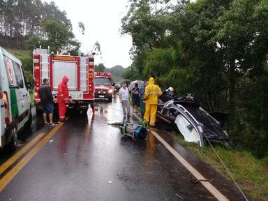 Jogador da seleção brasileira de futsal se envolve em grave acidente na divisa de SC com o Paraná