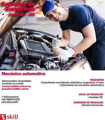 Mecânico automotivo- JOAÇABA – SC