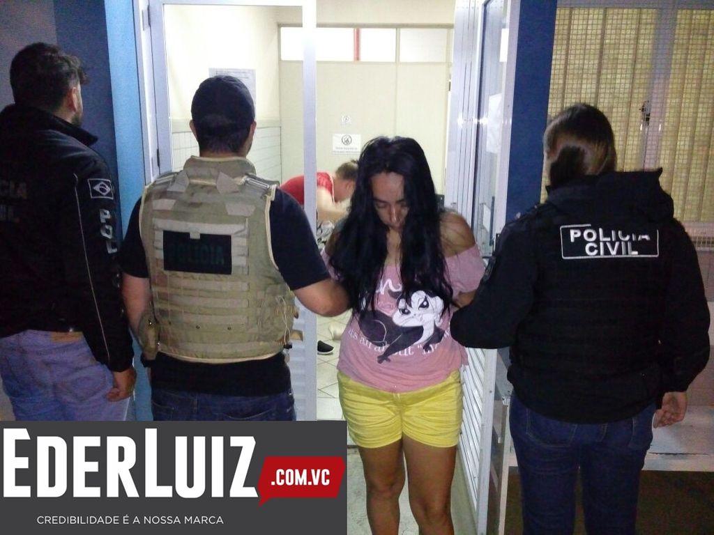 Cleucimar de Fátima Cardoso Bello Vissoto, quando foi presa pelo crime