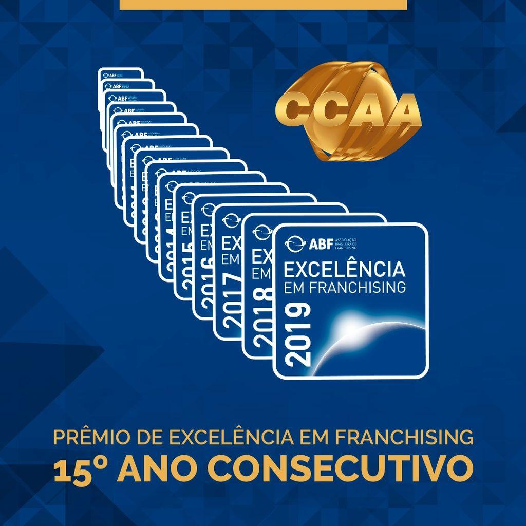 CCAA ganha pelo 15º ano consecutivo o Selo de Excelência da Associação Brasileira de Franchising (ABF)