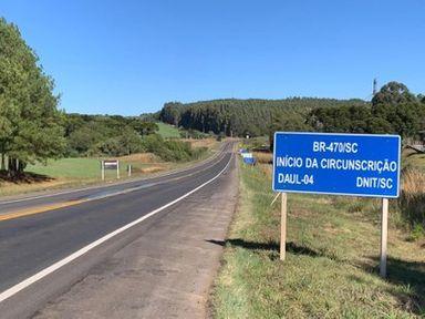 DNIT entrega 7 quilômetros restaurados na BR-470 em Campos Novos