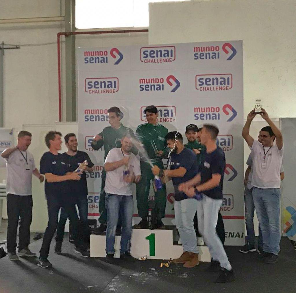 Projeto de Kart Elétrico do Senai Joaçaba conquistou 1º lugar.