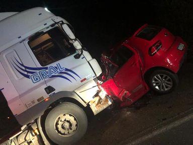 Idoso perde a vida em acidente na BR 282 entre o Trevão de Irani e Vargem Bonita